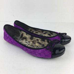 Sam Edelman Purple Quilted Calypso Ballet Flats 9M